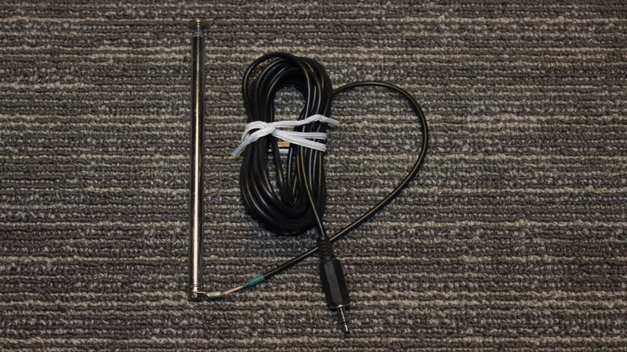 diy 3 5 mm jack fm antenna with coax for tea5767 fm module or cell phone [ 1280 x 720 Pixel ]