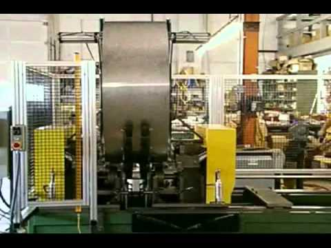 Custom Rollform Products Automated Flue Pipe Dual Flanging System
