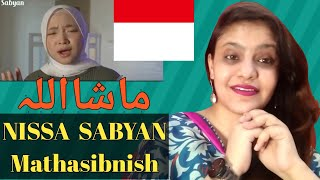 Indian Reaction SABYAN - MATHASIBNISH COVER || Indonesian Singer Nissa Sabyan || English Subtitles