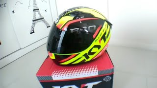 Unboxing and Review KYT R-10 SUPERFLUO