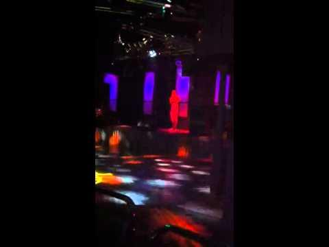 Tan singing at Krankit Karaoke