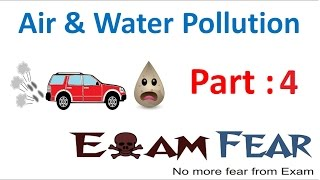 Biology Air Water Pollution Part 4 (Air pollution: harmful effect & causes) Class 8  VIII