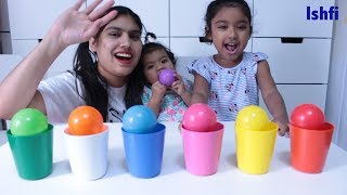 Learn Colors with Colourful Cup and Ballpit with Radia Ishfi