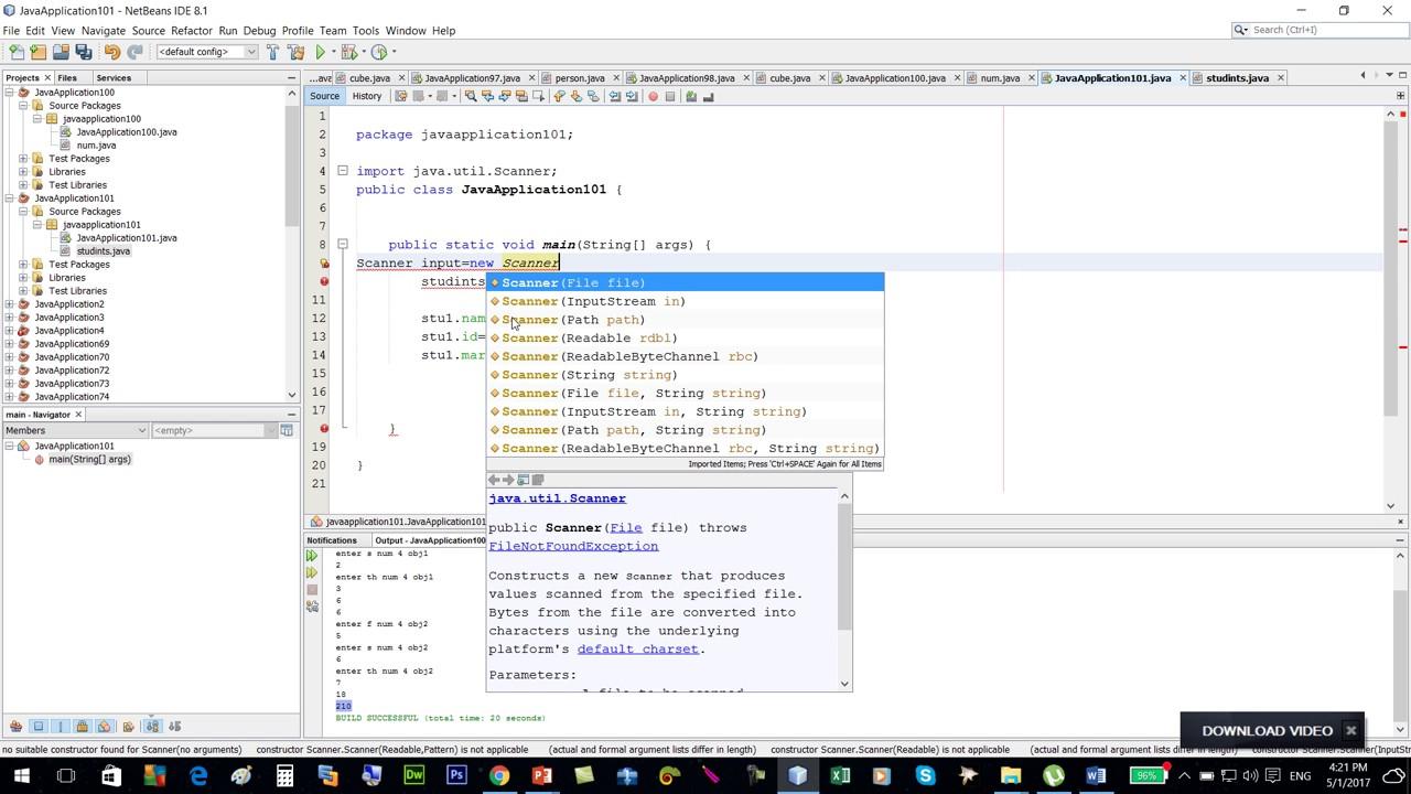 باستخدام مفهوم البرمجه الشيئيه برنامج لحساب النسبه المئويه لدرجه الطلاب Java Youtube