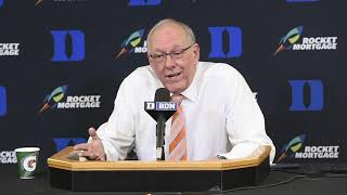 Jim Boeheim postgame news conference after Syracuse basketball vs. Duke  (2019)