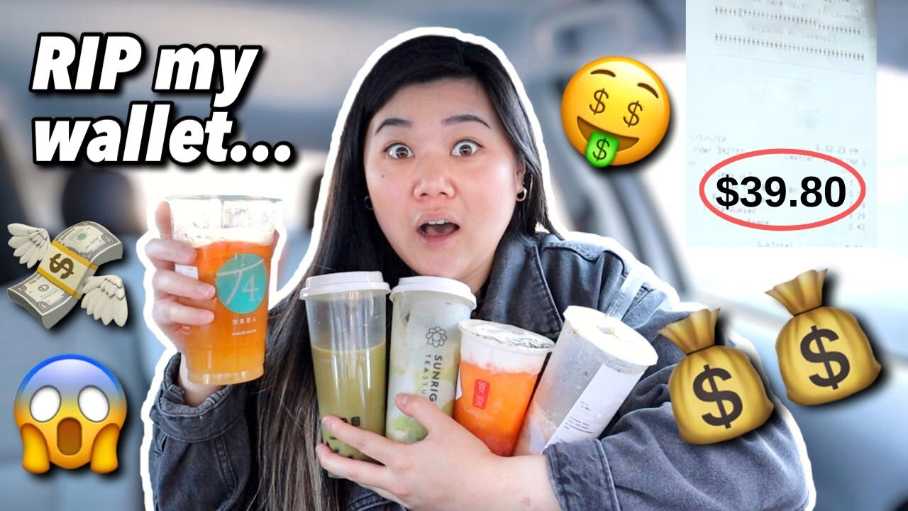 ONLY Drinking The MOST EXPENSIVE BOBA DRINKS On The Menu For 24 Hours! *my wallet is crying*