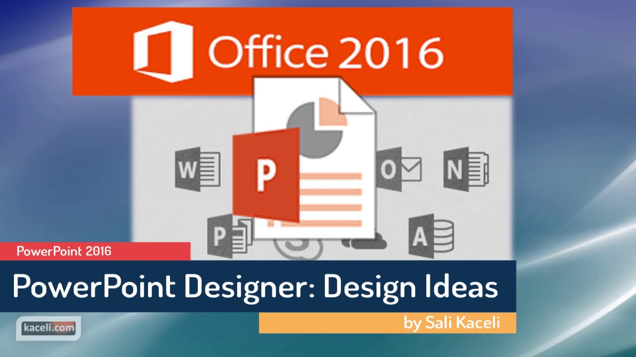powerpoint 2016 using the design ideas feature make your slides