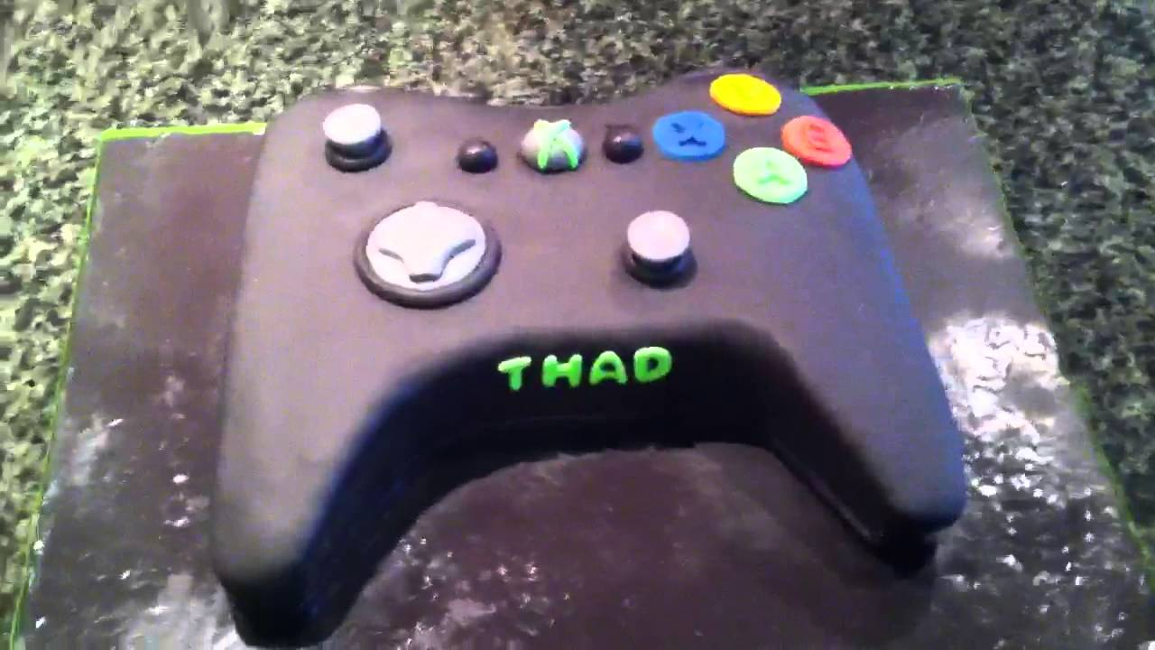 how to make an xbox controller cake without fondant
