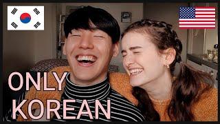 SPEAKING KOREAN FOR A DAY (International Couple)