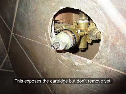 Glacier Bay Shower Cartridge Replacement (Old Style)   YouTube