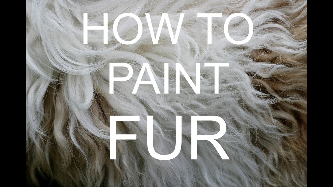 How To Paint Fur Acrylic Tutorial #bigartquest #18 Youtube