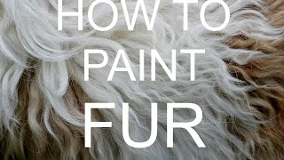How to paint FUR Acrylic tutorial #bigartquest #18