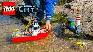 Lego City 60109 Fire Boat. Распаковка Лего Сити Пожарный Катер. Unboxing Lego City Fire Boat.
