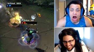Imaqtpie reacts tyler1 mental breakdown | insane lee sin t1 reaction | trick2g | lol funny moments