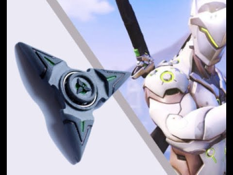 Genji gets his fidget spinners (Overwatch)