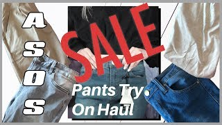 ASOS Sale Outlet Pants Try On Haul | Quality for less than $25?