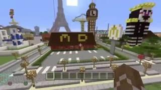 Présentation de ma ville Minecraft (Ps4)