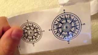 Посылка из Китая №11! Татуировка компас!!!