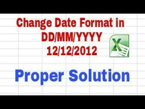 How to convert UK Dates to American/US Dates in Excel from YouTube · Duration:  1 minutes 25 seconds