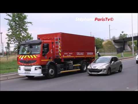 Pompiers de Paris & du Val d'Oise sur feu :Port de  Gennevilliers
