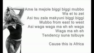 Shakira - Waka Waka (Esto Es Africa) Lyrics