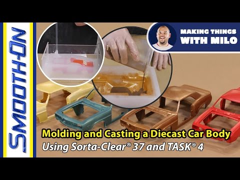 Mold Making Tutorial: How to Make a Silicone Squish Mold for Casting a Plastic Model Car Body