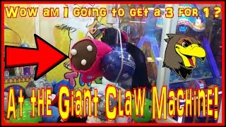 👑 GIANT Claw Machine Wins | Winning At The Claw Machine Big Claw Machines Plush Win HUGE Prize Game