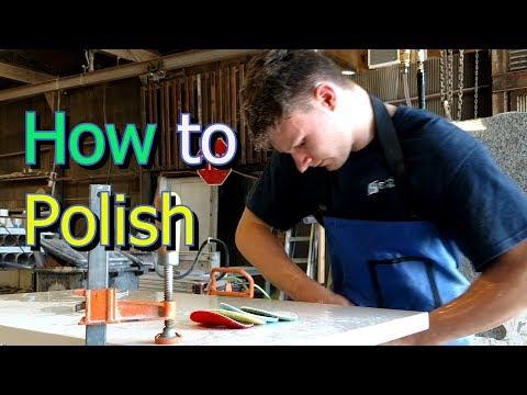 Sarto Countertops Kansas | How to polish Granite and Quartz Countertop Edge