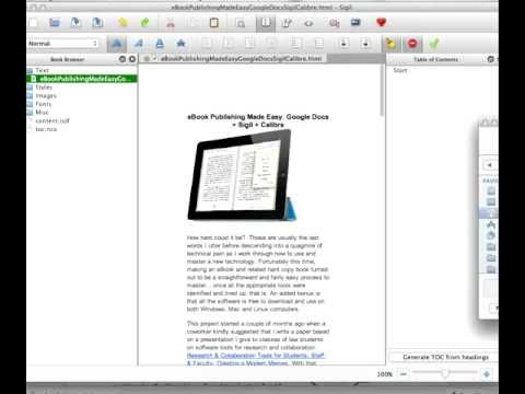 eBook Publishing Made Easy: Google Docs + Sigil + Calibre