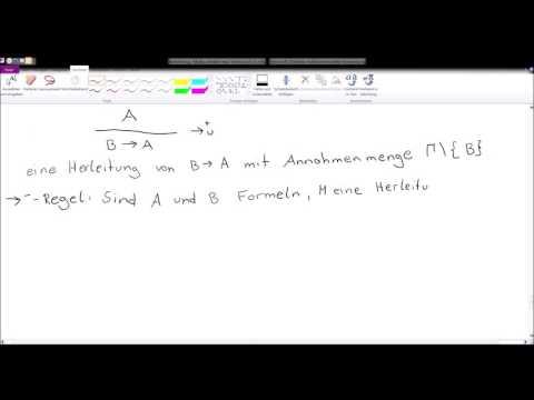 Mathematische Logik - Natürliches Schließen - Annahme, Implikation und Allquantor