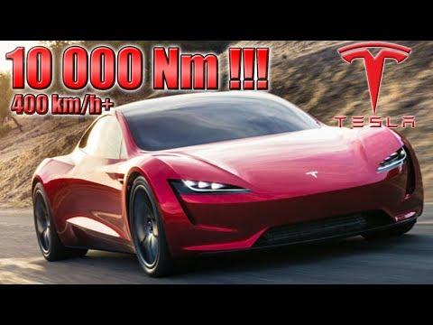10 000 Nm! 400 km/h! 2020 Tesla Roadster...