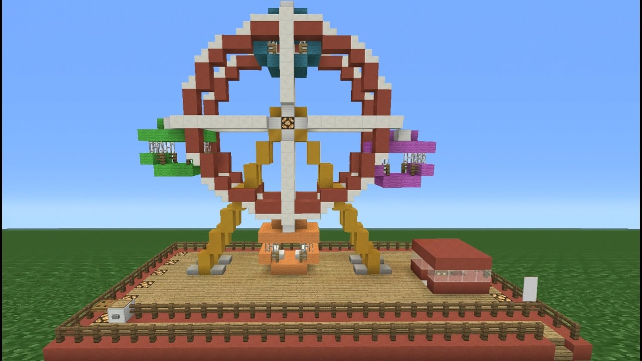 Minecraft Tutorial: How To Make A Ferris Wheel (Theme Park ...  Minecraft Tutor...