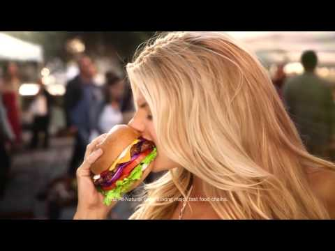 Charlotte McKinney - Carls Jr Ad Commercial - Super Bowl XLIX 2015 - The All Natural Burger