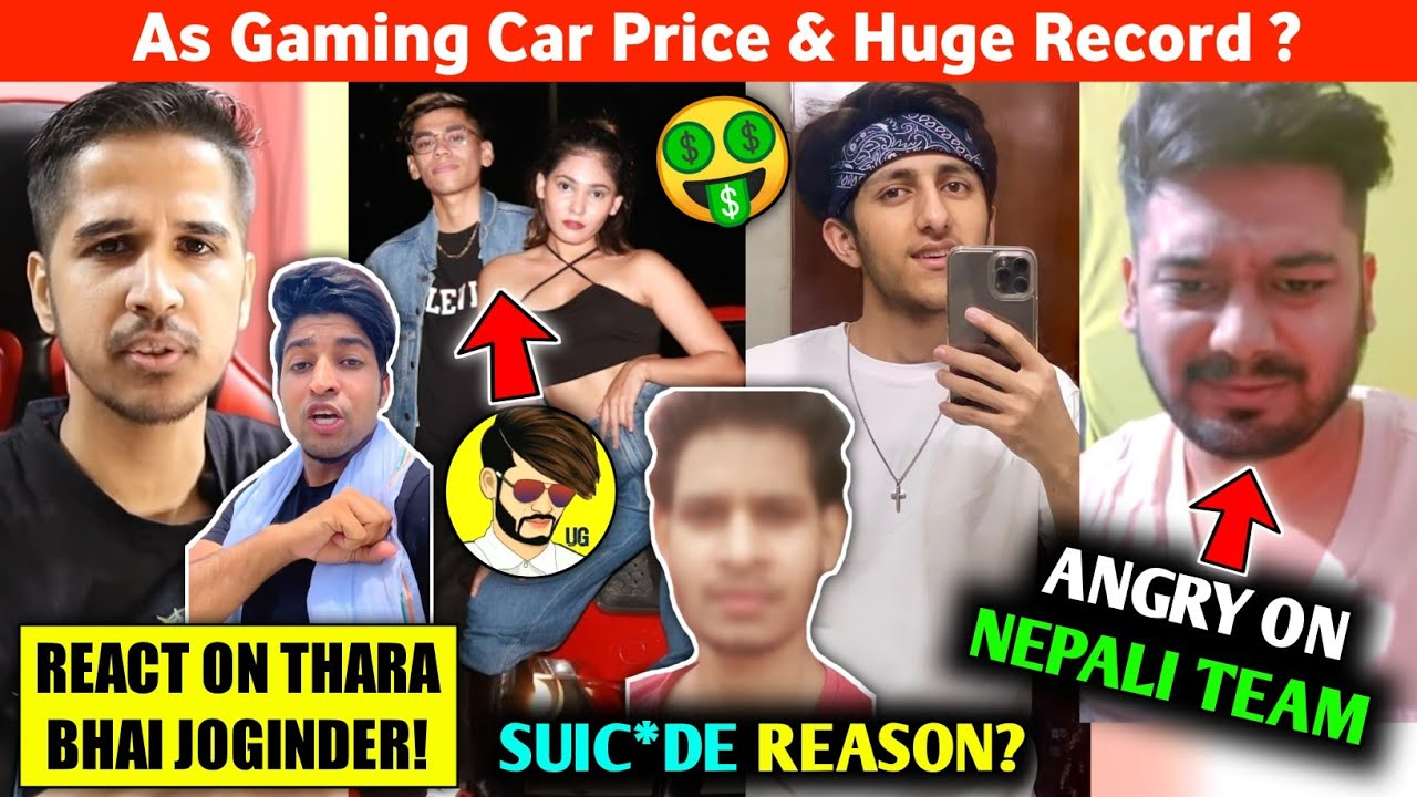 Rocky Angry on Nepali Team?😠 YouTuber committed Suic*de for Love?😱 Desi Gamers react on Joginder!😂