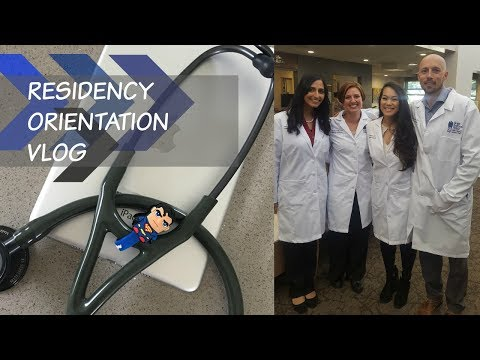 Starting Residency - Orientation VLOG