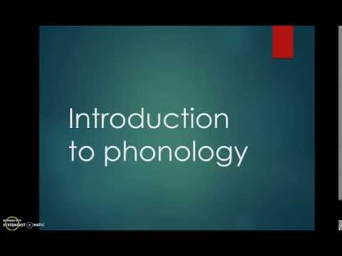 #6 Introduction to Phonology