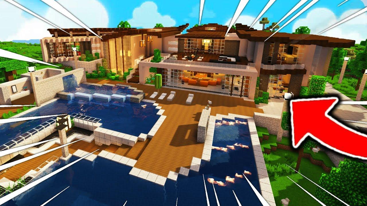 Une Immense Maison De Youtubeur à 10 000 000 Dans Minecraft Capitaine Kirk 11 22 Hd