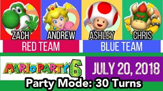 Mario Party 6: Party Mode 30 Turns (Zach & Andrew vs. Ashley & Chris)