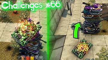 Mammoth Overdrive Vs 10 Tank Tower?! Challenges Video #66 - Tanki Online!