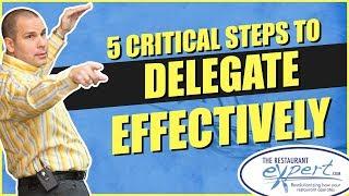 Restaurant Management Tip - How to Delegate in Your Restaurant #restaurantsystems