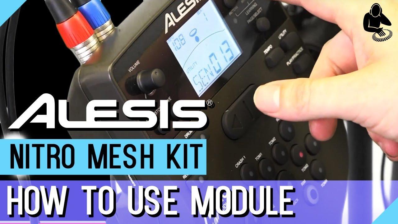 Alesis Nitro Mesh Kit Module Instructions