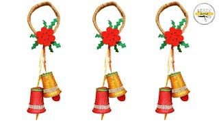 DIY Christmas Hangings | Plastic Glass Craft | Christmas Decor Ideas | Just Craft