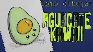 Cómo dibujar un aguacate kawaii / How to draw a kawaii avocado