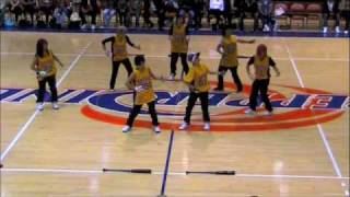 Beat Freaks performs at She Cares Celebrity Basketball
