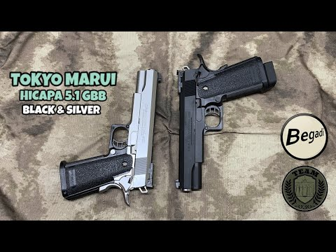 [REVIEW] AIRSOFT HiCAPA 5.1 GBB TOKYO MARUI Black & Silver Review Deutsch/german