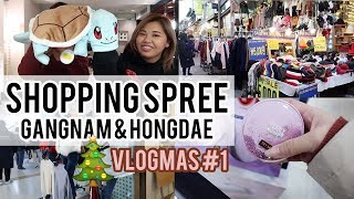 Shopping Spree in Gangnam and Hongdae, Korea ft.heyitsfeiii | Vlogmas Day 1