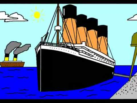 how to draw the titanic sinking easy