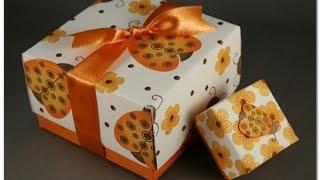 Сделать подарочную коробку своими руками. Из бумаги и без клея(Подарочная коробка из бумаги. Посмотрите как можно быстро сделать коробочку для сувенира без клея, использ..., 2014-08-04T10:46:30.000Z)