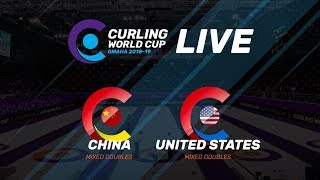 China v United States - Mixed Doubles - Curling World Cup second leg, Omaha, United States
