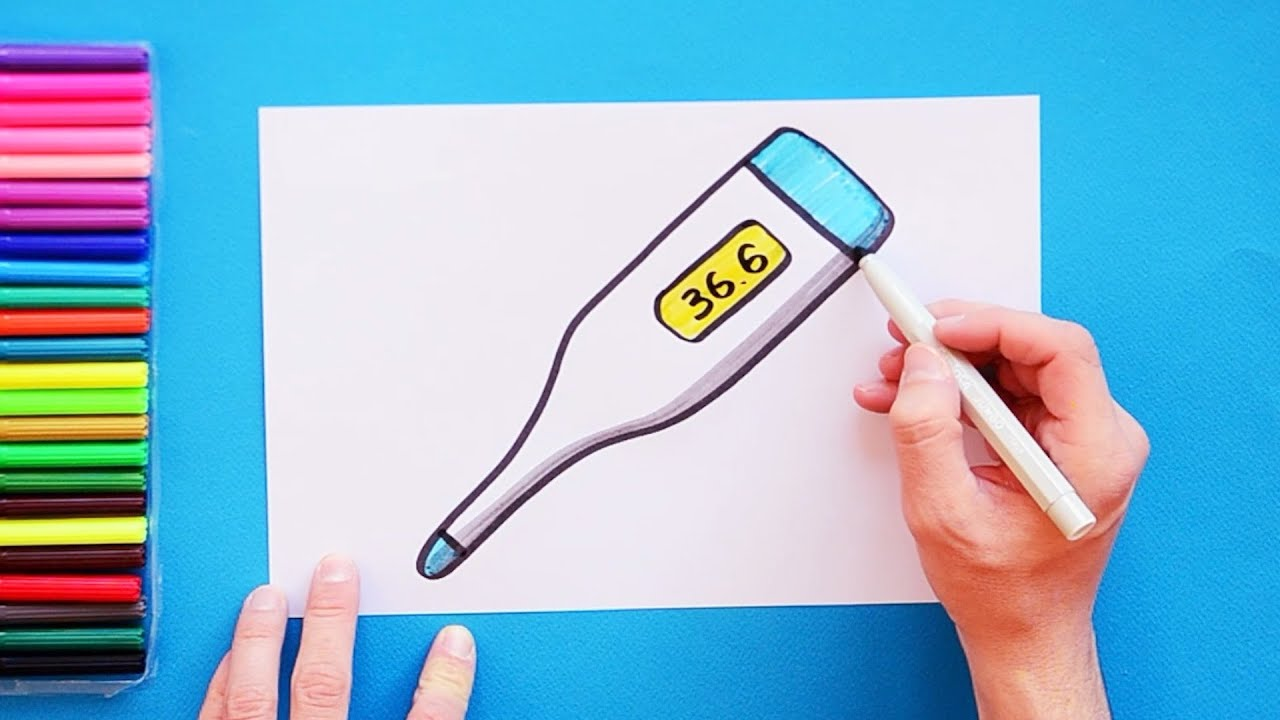 Medical Thermometer Coloring Page - Ultra Coloring Pages | 720x1280